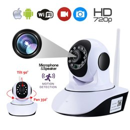 Audio Ip Camera Australia - LESHP Wireless WiFi IP Camera 1280*720 HD Household Baby Monitor TF Card Record Audio Video Surveillance Camera Plug and Play
