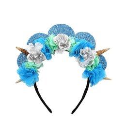 $enCountryForm.capitalKeyWord Australia - 2019 new beach kids Hair Sticks floral Mermaid baby headbands Girls designer headband party kids designer headbands baby headbands A4278