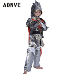 Discount children role play costumes - Aonve Children Cosplay Set Halloween Knight Hero Role Playing Costumes Boys Party Disfraces Kids Rave Fancy Halloween Cl