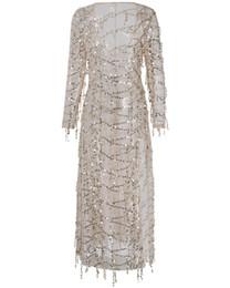 $enCountryForm.capitalKeyWord UK - Burst Evening Dress Paillette Tassels Sandy Beach Smock Sexy Deep V Paillette Dress