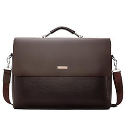 Chinese  Brand Men Bags Business Briefcase Luxury Messenger Handbags Male Laptop Bag Office Black Brown Leather Handbags Men Briefcase manufacturers