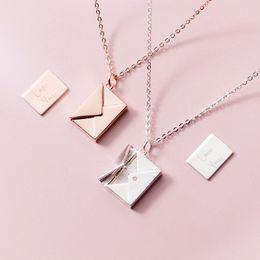 $enCountryForm.capitalKeyWord Australia - Mloveacc Genuine 925 Sterling Silver Pendant Necklace Women Envelope Lover Letter Pendant Best Gifts For Girlfriend J190711