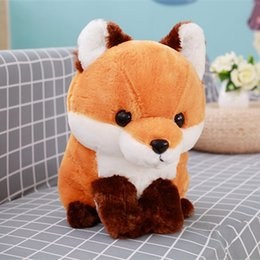 fox toys children UK - 1PC 40CM Soft Cute Long tail Fox Plush Toy Stuffed Kids Doll Fashion Kawaii Gift for Children Birthday Gift Home Shop Decor