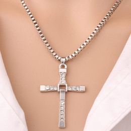cross chain fast furious NZ - The Movie Fast and Furious Pendant Dominic Creative Toretto Cross Men's Necklace Drop