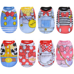 $enCountryForm.capitalKeyWord NZ - Cartoon Dog Vest Summer Clothes For Dogs Shirts Cotton Small Medium Dog Clothes Summer Pet Shirts For Dogs Costume Cat Clothing Wholesale