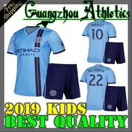 45f21cd38 top quality 2019 New York City Kids soccer jersey home 19 20 MLS LAMPARD 8  PIRLO 21 MCNAMARA MORALEZ DAVID VILLA 7 football shirts