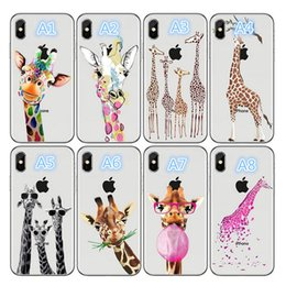 Phone giraffe online shopping - Mobile phone shell High quality mobile phone shell with explosive cartoon giraffe pattern Mobile phone case for iPhone X XR XSMAX