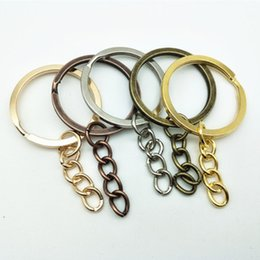 key ring split bronze UK - Jewelry Accessories100 pcs lot Key Chain Key Ring Bronze Rhodium Gold Color Round Split Keyrings Keychain Jewelry Making CHN27