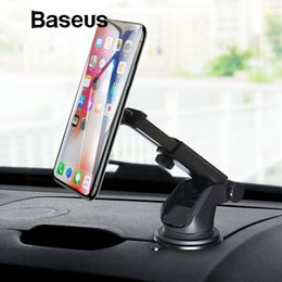 $enCountryForm.capitalKeyWord NZ - Baseus Telescopic Car Phone Holder For Iphone Cell Mobile Phone Windshield Dashboard Suction Cup Car Mount Magnetic Holder Stand T190625