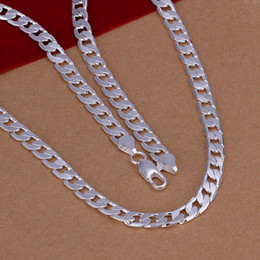 "925 Chains For Men Australia - Fine 925 Sterling Silver Necklace,XMAS New 925 Silver 6MM 16inch 18""-24Inch Curb Chain Necklace For Women Men Fashion Jewelry Link Italy"