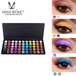 diamond professional eye shadow 2019 - Miss Rose Eye Makeup 55 Colors Eyeshadow Palette Gold Smoky Cosmetics Makeup Palette Diamond Bright Glitter Professional