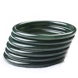 $enCountryForm.capitalKeyWord UK - Fine Jewelry Fine Natural Green Jade Round Fine Jade Bracelet Bangle Hand Catenary 59mm----62mm Free Shipping