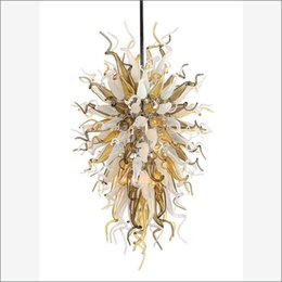 $enCountryForm.capitalKeyWord UK - Unique Decorative Blown Murano Glass Chandeliers Lamps Top Design Colored Hand Blown Glass Crystal Chandelier for Living Room