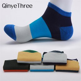 22e2e6bb0 New Arrivals Leisure Cotton Men Good Quality Short Warm Stitching Color  Antiskid Invisible Casual Socks Male C190416