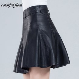 Faux Leather Models Australia - 2017 New Short Skirt Women's Autumn And Winter Models Were Thin Code Half Skirt A Word Pleated Pu Leather Skirt 03 Y19042602