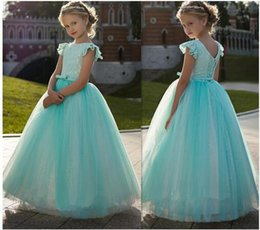 $enCountryForm.capitalKeyWord NZ - Vintage Princess Dress with Lace Best Flower Girl Dress For Kids Party Lace Up Back Pageant Gowns For Cute Girl Robe De Soiree