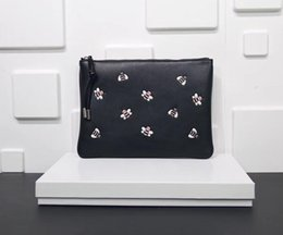 New mens Women Kaws Clutch bag lady fashion casual bee embroidery classic Purse bags Zipper 29x19 on Sale