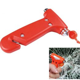 $enCountryForm.capitalKeyWord Australia - 2pcs 2 in 1 Mini Car Safety Hammer Auto Car Window Glass Breaker Seat Belt Cutter Rescue Hammer Life-saving Escape Tool
