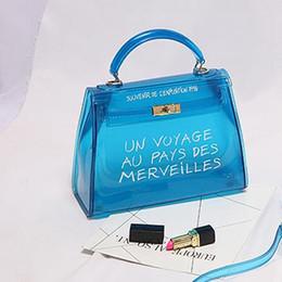 Blue color ladies shoulder handBag online shopping - Clear Transparent PVC Shoulder Bags Candy Color Women Jelly Bags Purse Solid Color Handbags Large Capacity Crossbody Bags LJJP299