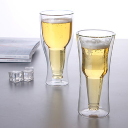 beer glasses Australia - Double Wall Glass Creative Coffee Teacup Juice Mugs Milk Cafe Cup 1pc 250-350ml Beer Swig Cocktail Glasses Verre