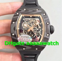$enCountryForm.capitalKeyWord NZ - 2019 New Luxury Watch 055 Watch MIYOTA8215 Automatic Movement Forge Carbon Titanium Case KVF Skeleton Dial Rubber Strap Men Watch