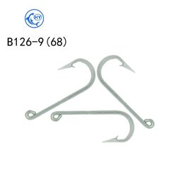 Stainless Fish Hooks Australia - 100pcs quality factory supply 304 stainless steel fishing hook high endurance steel wire fish B126-9 professional fishing gear supplies
