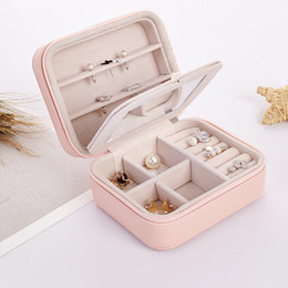 lipsticks day Australia - Creative Portable Jewelry Box Travel Comestic Jewelry Casket Organizer Makeup Lipstick Storage Earring Ring Box Beauty Container Necklace Bi