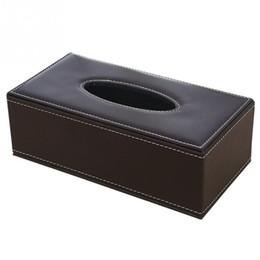 $enCountryForm.capitalKeyWord NZ - Home Pu Leather Large Anti-moisture Rectangular Tissue Paper Napkin Box Case Household Office Holder 24x13x9.5cm C19042101