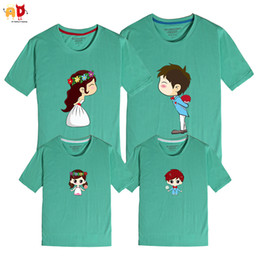 1dc6959a712f good quality 1PCS Wedding Pattern Summer Family Matching Clothing Mother  and Son Father Daughter Kid T-shirts Couple Clothes Cotton Blend