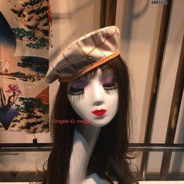 French Female hat online shopping - Female Cute England Beret Hat Women Lady French Artist Flat Cap fashion berets