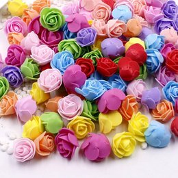 Artificial Flowers For Decoration Box NZ - 100 Pcs Pe Faux Foam Roses Flower Head Artificial Flowers Cheap Wedding Decoration For Gift Box Scrapbooking Diy Wreath Multi-us