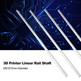 $enCountryForm.capitalKeyWord Australia - 3D Printer Smooth Axis Chromed Rod Steel 6 8 10 12mm Linear Rail Shaft Hardened CNC Chromed Plated Linear Motion Rod