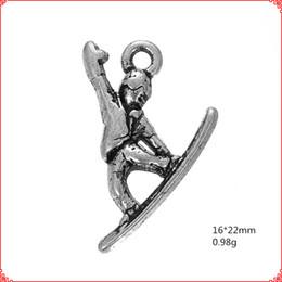 $enCountryForm.capitalKeyWord NZ - 30pcs Antique vintage tibetan silver surfing surf charms metal dangle alloy pendants for necklace bracelet earring diy jewelry making