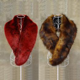 372b33071d5eb 2018 New Fashion Fox fur Collar Women's winter Faux fur long scarves  Imitation Raccoon Scarf Long Shawl
