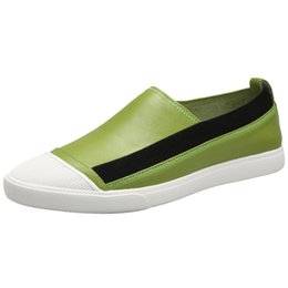 $enCountryForm.capitalKeyWord Australia - Men Flat Loafer Leather Skate Shoes For Teenager Boys Solid Light Weight Casual Shoe Classical Sports Men Comfortable Footwear