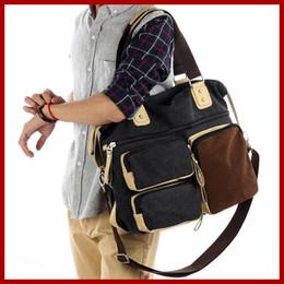 Briefcase 14 online shopping - Retro Vintage cotton canvs men s briefcase men bag tote quot laptop men messenger bags shoulder bag fashion men s travel bags