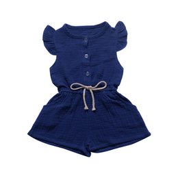 $enCountryForm.capitalKeyWord UK - 2019 summer children's wear small flying sleeves jumpsuit shorts one with solid color open a row of button children's clothing