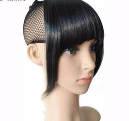 synthetic hair bang hairpiece NZ - 2019 Shipping Clip In Bang Bangs Fringe Synthetic Hairpiece Fringe Hair Extensions Black Brown Blonde