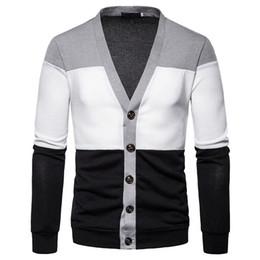 Zipper collar sweater men s online shopping - Casual Men s Sweater Multi style multi collar Striped Slim Knittwear Mens Sweaters Pullovers multi cloth Pullover Men S XL V191022