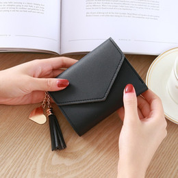 $enCountryForm.capitalKeyWord Australia - New Women's Coin Purse Girl Campus Style Short Paragraph Fashion Tassel Pendant Lychee Mini Wallet Card Pack Coin Purse