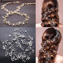 Chinese  Faroonee Wedding Headdress Simulated Pearl Hair Accessories for Bride Crystal Crown Floral Elegant Hair Ornaments Hairpin 6C0193 manufacturers