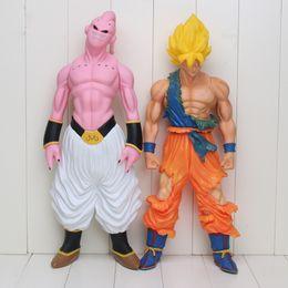 Buu Figure Australia - Dragon Ball Z Majin Buu Super Saiyan Goku Son Big Size Pvc Action Figures Model Collection Toys Dolls Y19051804
