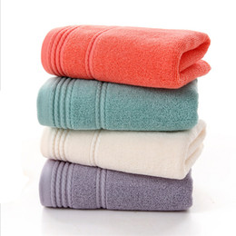 Water toWels online shopping - Factory direct shares of pure cotton plain broken towel cm can be customized embroidery water absorption lint wash face soft