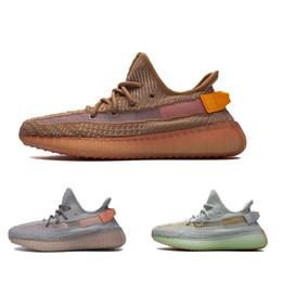 new styles 3b1da 6d1df Acheter 2019 Dernières Argile True Forme Hyperspace Kanye West Avec Des  Chaussures De Course Hommes Femmes Baskets Mode Sport Runners Taille 13  Disponible ...