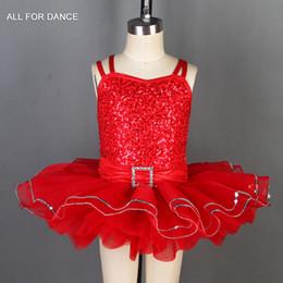 Ballet Tutu Dancewear Australia - Red sequin Bodice with color tulle Ballet tutu kids ballet costumes dance tutu Performance dancewear Kid dance costumes
