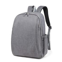 $enCountryForm.capitalKeyWord Canada - Fashion Diaper Bag Multifunction Mummy Maternity Nappy Bag Large Baby Travel Backpack for mom Black Gray Color