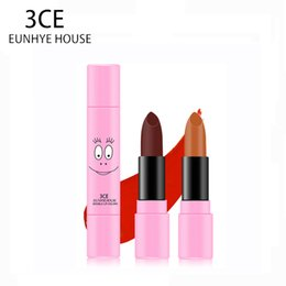 3ce Wholesale Lipstick Australia - 3CE Eunhye House Lipstick Make Up batom lip balm 2 Color lip tint in 1 Lipstick Waterproof Makeup Lips Makeup Cosmetic