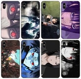 case cartoon silicone iphone galaxy NZ - [TongTrade] Cartoon Revenge Uchiha Sasuke In Naruto Case For iPhone 11 Pro Max X XS 8 7 6s 5 Galaxy A7 Honor V8 V10 LG K40 K50 Silicone Case