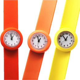 $enCountryForm.capitalKeyWord Australia - simple solid small boys girls numbers face silicone slap watches wholesale kids children students sport party gift wrist watches