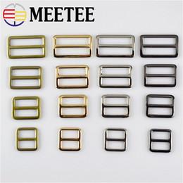 $enCountryForm.capitalKeyWord Canada - Meetee wholesale faster Webbing Straps Metal Slider Adjust Buckle 2 2.5 3.2 3.7cm Bag Backpack Belt Ring Buckle Parts Accessory